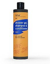 Düfte, Parfümerie und Kosmetik 3in1 Shampoo, Conditioner und Duschgel mit Aloe Vera-Extrakt - Kili·g Man 3-in-1 Shampoo