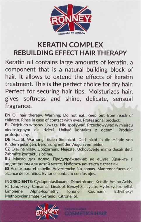 Regenerierendes Keratin Öl für Haar - Ronney Keratin Complex Rebuilding Effect Hair Therapy — Bild N3