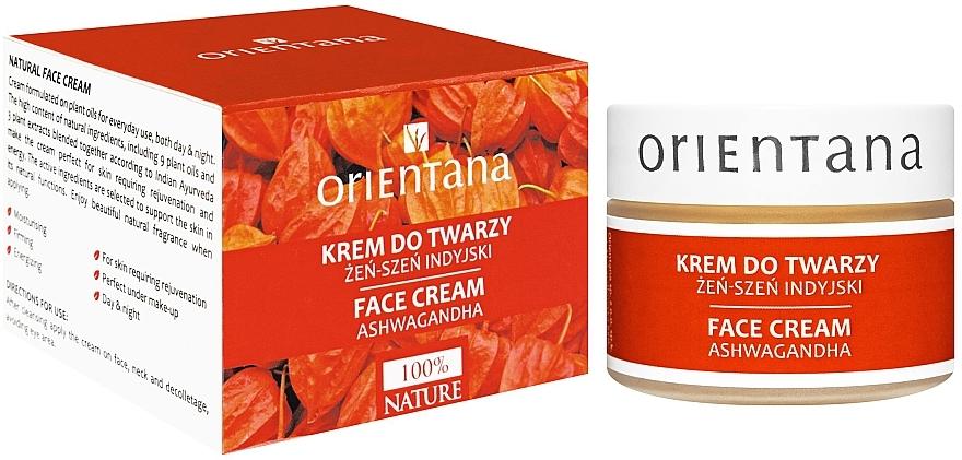 Gesichtscreme mit indischem Kraftwurz - Orientana Face Cream Ashwagandha
