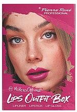 Düfte, Parfümerie und Kosmetik Lippen-Make-up Set (Lippenstift 3g + Lippenkonturenstift 0.4g + Lipgloss 6ml) - Pierre Rene Lips Outfit Box No. 01 @MsHeraOfficial