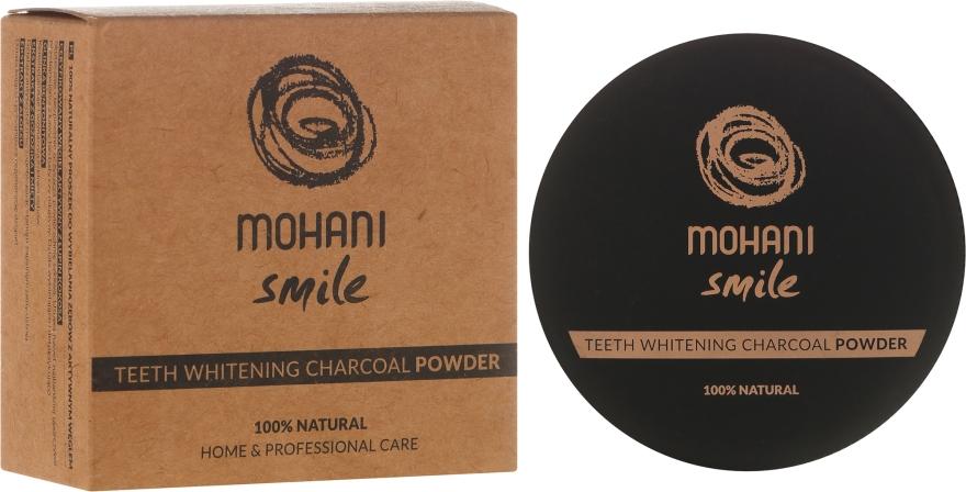 100% Natürliches bleichendes Zahnpulver mit Holzkohle - Mohani Smile Teeth Whitening Charcoal Powder