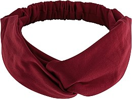 Düfte, Parfümerie und Kosmetik Haarband Knit Twist bordeauxrot - MakeUp Hair Accessories