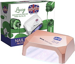 Düfte, Parfümerie und Kosmetik CCFL/LED Lampe für Nageldesign kaffeebraun - Ronney Profesional Lucy CCFL + LED 38W (GY-LCL-021) Lamp