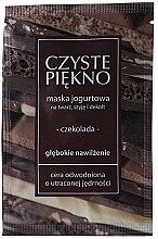 Düfte, Parfümerie und Kosmetik Feuchtigkeitsspendende Gesichtsmaske mit Schokolade und Joghurt - Czyste Piekno Chocolate Face Mask