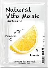 Düfte, Parfümerie und Kosmetik Aufhellende Tuchmaske für das Gesicht mit Vitamin C und Zitrone für strahlende Haut - Too Cool For School Natural Vita Mask Brightening