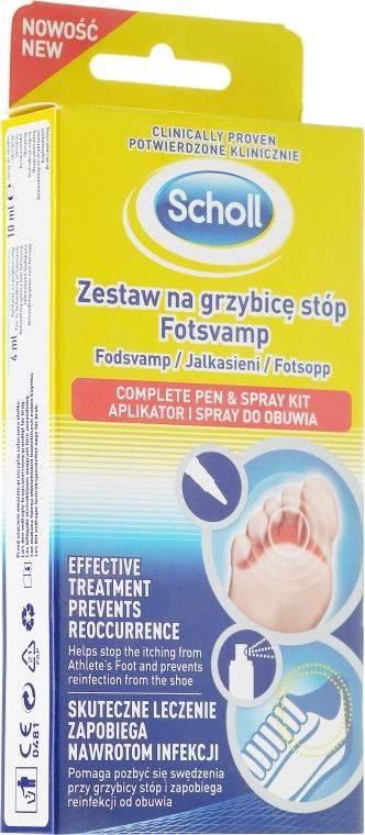 Fußpflegeset - Scholl Fotsvamp (Behandlungsstift mit Creme gegen Fußpilz 4ml + Schuhspray 10ml)