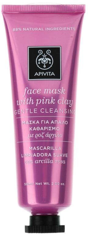 Reinigungsmaske für das Gesicht mit rosa Tonerde - Apivita Gentle Cleansing Mask — Bild N1