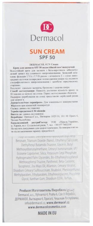 Wasserfeste Sonnenschutzcreme SPF 50 - Dermacol Sun Cream — Bild N2