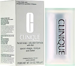 Düfte, Parfümerie und Kosmetik Seife für fettige Haut - Clinique Facial Soap with Dish Oily