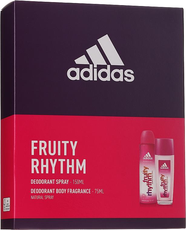 Adidas Fruity Rhythm - Körperpflegeset (Parfümiertes Körperspray 75ml + Deospray 150ml)
