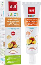 Düfte, Parfümerie und Kosmetik Stärkende Zahnpasta für Kinder Pfirsich - SPLAT Juicy