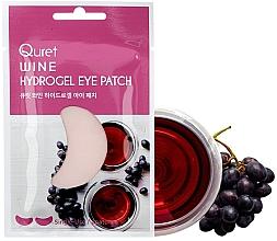 Düfte, Parfümerie und Kosmetik Hydrogel-Augenpatches mit Wein - Quret Wine Hydrogel Eye Patch