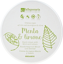Düfte, Parfümerie und Kosmetik Pflegende Handcreme mit Minze und Zitronenöl - La Saponaria Hand Cream Mint and Lemon
