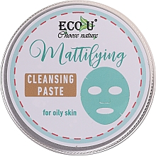 Düfte, Parfümerie und Kosmetik Mattierende Gesichtsreinigungspaste für fettige Haut - ECO U Mattifying Cleansing Paste For Oily Skin