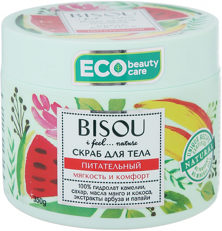 Pflegendes Körperpeeling mit Wassermelonen- und Papain-Extrakt und Mango- und Kokosöl - Bisou I feel... Nature Nourishing Body Scrub