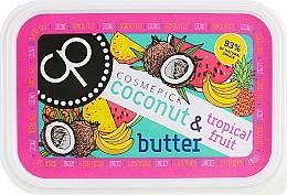 Düfte, Parfümerie und Kosmetik Intensiv feuchtigkeitsspendende und regenerierende Körperbutter mit Aroma von Kokosnuss und tropischen Früchten - Cosmepick Body Butter Coconut & Tropical Fruits