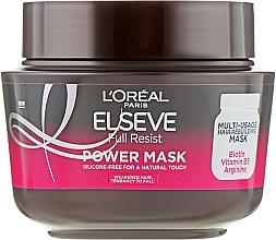 Düfte, Parfümerie und Kosmetik Stärkende Haarmaske mit Biotin, Vitamin B5 und Arginin - L'Oreal Paris Elseve Full Resist Power Mask