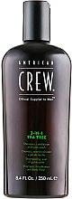 Düfte, Parfümerie und Kosmetik 3in1 Shampoo, Conditioner und Duschgel mit Teebaumöl - American Crew Tea Tree 3-in-1 Shampoo, Conditioner and Body Wash