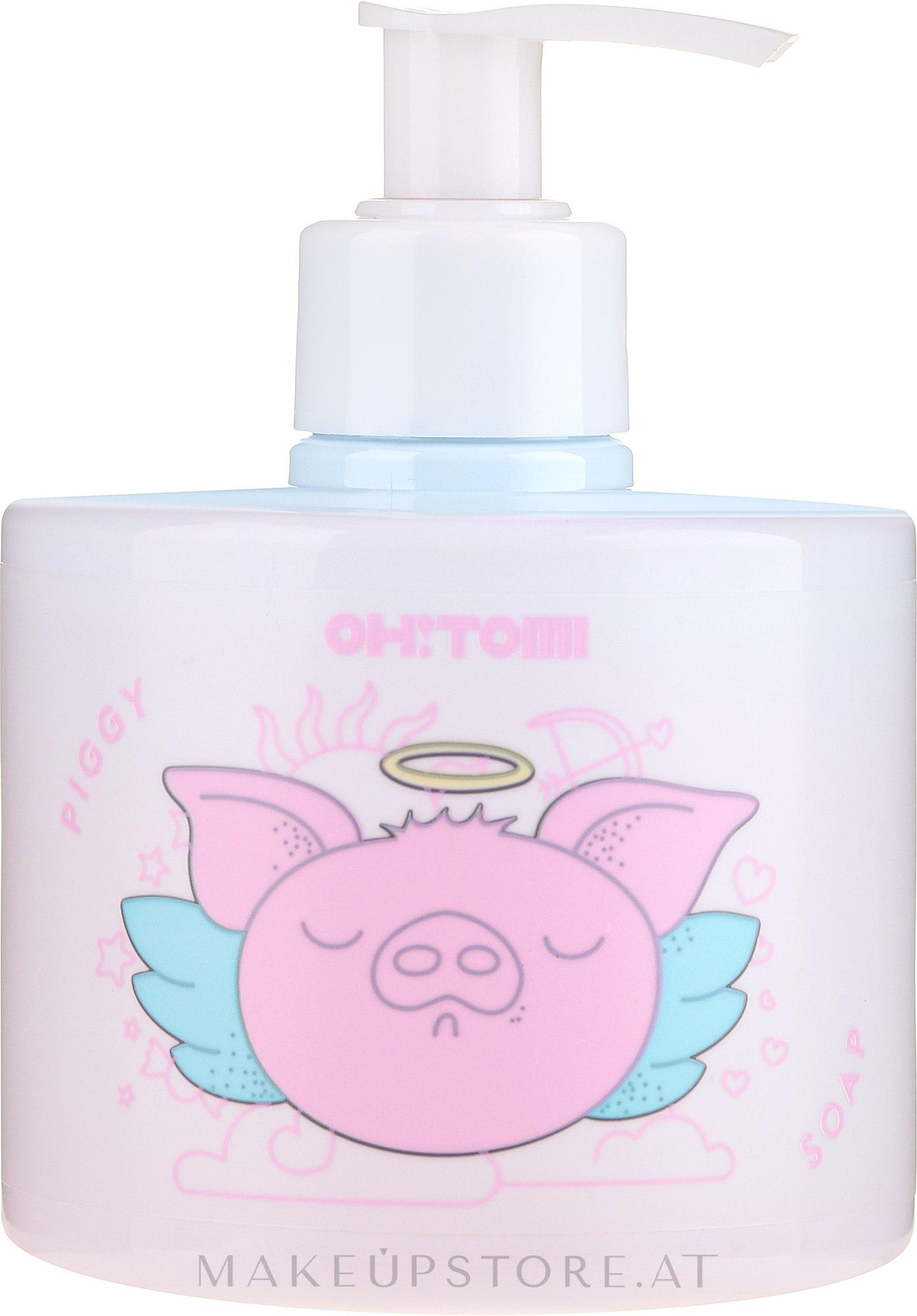 Natürliche Flüssigseife mit Himbeer- und Erdbeerextrakt - Oh!Tomi Piggy Liquid Soap — Bild 300 ml