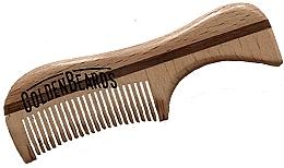 Düfte, Parfümerie und Kosmetik Schnurrbartkamm aus Öko-Holz 9,5 cm - Golden Beards Eco Moustache Comb