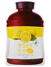 Düfte, Parfümerie und Kosmetik Tuchmaske mit Zitronenextrakt - A'Pieu Fruit Vinegar Sheet Mask Lemon
