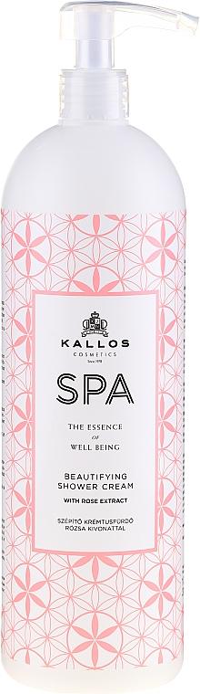 Verschönernde Duschcreme mit Rosenextrakt und Vitamin A - Kallos Cosmetics Spa Beautifying Shower Cream