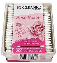 Düfte, Parfümerie und Kosmetik Wattestäbchen mit japanischem Rosenöl 200 St. - Cleanic Rose Beauty Cotton Buds