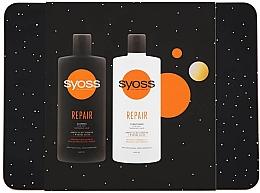 Düfte, Parfümerie und Kosmetik Haarpflegeset - Syoss Repair Metal Box (Shampoo 440ml + Conditioner 440ml)