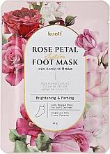 Düfte, Parfümerie und Kosmetik Aufhellende und straffende Fußmaske in Socken mit Rosenblütenextrakt - Petitfee&Koelf Rose Petal Satin Foot Mask