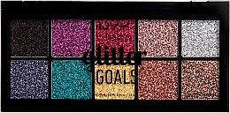 Düfte, Parfümerie und Kosmetik Glitzer-Lidschattenpalette - NYX Professional Glitter Goals
