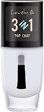Düfte, Parfümerie und Kosmetik 3in1 Nagelüberlack - Lovely Top Coat 3in1
