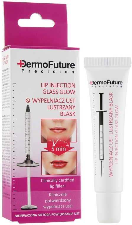 Lippenserum mit Glanzeffekt und Hyaluronsäure - DermoFuture Lip Injection Glass Glow