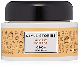 Düfte, Parfümerie und Kosmetik Haarpomade Starker Halt - Alfaparf Milano Style Stories Glossy Pomade Strong Hold