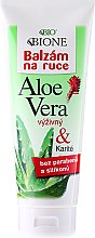 Düfte, Parfümerie und Kosmetik Feuchtigkeitsspendende Handcreme mit Aloe Vera - Bione Cosmetics Aloe Vera Nourishing Hand Ointment With Collagen