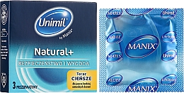 Düfte, Parfümerie und Kosmetik Kondome Natural Easy-Fit 3 St. - Unimil Natural