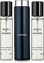 Düfte, Parfümerie und Kosmetik Chanel Bleu de Chanel - Eau de Toilette (2x20ml Refill + 1x20ml Parfümzerstäuber)
