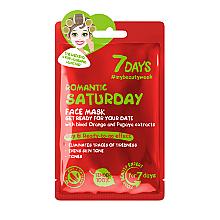 Düfte, Parfümerie und Kosmetik Feuchtigkeitsspendende Gesichtsmaske mit Orangen- und Papaya-Extrakt - 7 Days Romantic Saturday