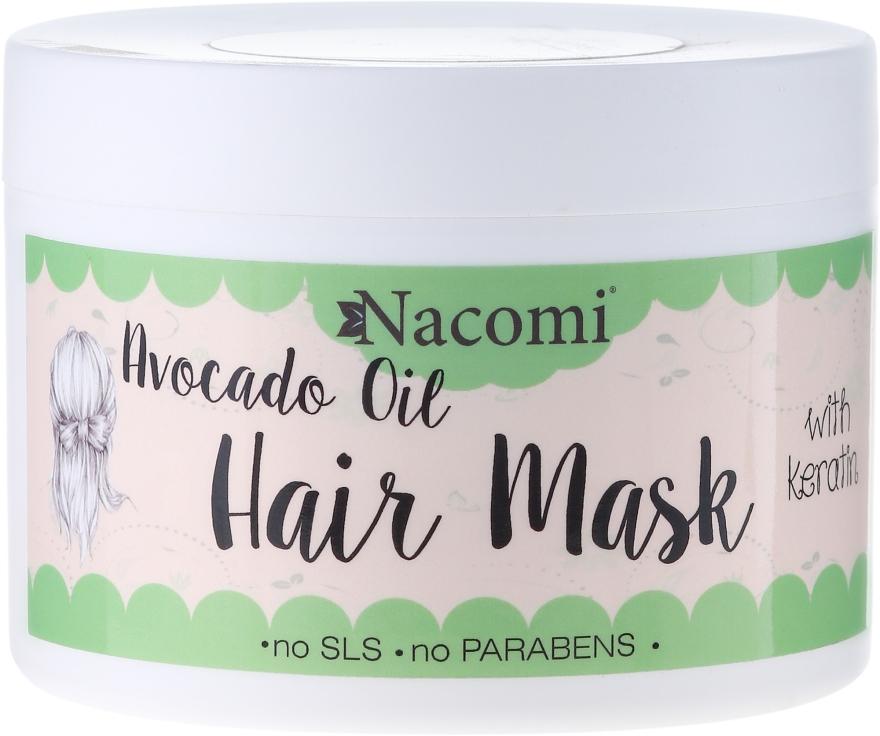 Haarmaske mit Keratin und Avocadoöl - Nacomi Natural With Keratin & Avocado Oil Hair Mask — Bild N1