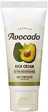Düfte, Parfümerie und Kosmetik Extra nährende Gesichtscreme mit Avocadoextrakt für rissige und trockene Haut - SkinFood Premium Avocado Rich Cream