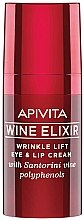 Düfte, Parfümerie und Kosmetik Anti-Falten Augen- und Lippenkonturcreme mit Lifting-Effekt - Apivita Wine Elixir Cream