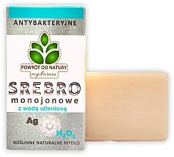 Düfte, Parfümerie und Kosmetik Handgemachte Naturseife mit Wasserstoffperoxid - Powrot do Natury Natural Soap Matt Silver and Hydrogen Peroxide