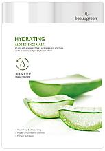 Düfte, Parfümerie und Kosmetik Feuchtigkeitsspendende Tuchmaske mit Aloe Vera - BeauuGreen Hydrating Aloe Essence Mask