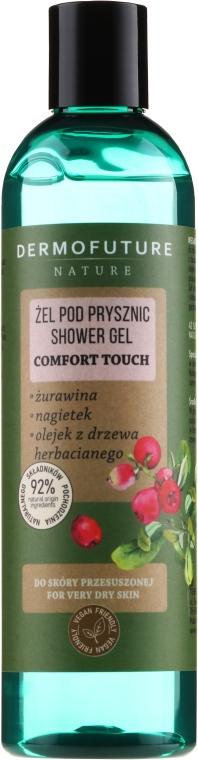 Duschgel für sehr trockene Haut mit Cranberry, Ringelblume und Teebaumöl - Dermofuture Nature Shower Gel Comfort Touch