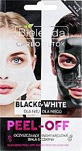 Düfte, Parfümerie und Kosmetik Weiße und schwarze Peel-Off-Maske für Frauen und Männer mit Aktivkohle - Bielenda Carbo Detox Black & White Mask