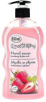 Flüssige Handseife mit Erdbeere und Aloe Vera - Bluxcosmetics Naturaphy Hand Soap