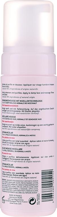 Mizellen-Reinigungsmousse mit Rosenblüttenblättern - Nuxe Micellar Foam Cleanser With Rose Petals — Bild N2