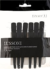 Düfte, Parfümerie und Kosmetik Carbon-Haarspangen schwarz 6 St. - Lussoni