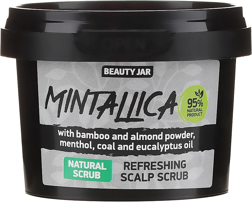 Erfrischendes Kopfhautpeeling mit Bambus- und Mandelpulver, Menthol, Aktivkohle und Eukalyptusöl - Beauty Jar Mintallica Refreshing Scalp Scrub