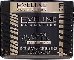 Düfte, Parfümerie und Kosmetik Intensiv feuchtigkeitsspendende Körpercreme mit Arganöl und Vanilleextrakt - Eveline Cosmetics Argan & Vanilla Gold Edition Intensive Moisturising Body Cream