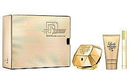 Düfte, Parfümerie und Kosmetik Paco Rabanne Lady Million - Duftset (Eau de Parfum/50 + Körperlotion/75ml + Eau de Parfum/10ml)